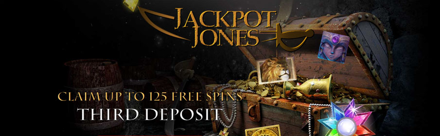 Jackpot Jones Casino Third Deposit Bonus