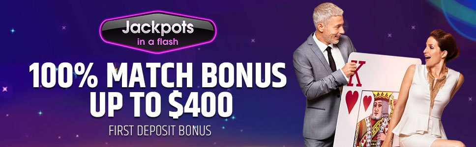 Jackpots in a Flash Casino Welcome Bonus