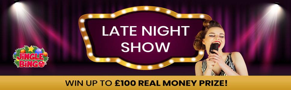 Jingle Bingo Late Night Show Promotion