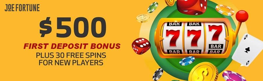 First Deposit at Joe Fortune Casino