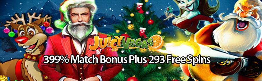 399% Match Bonus Plus 293 Free Spins
