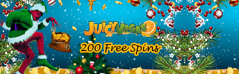 Juicy Vegas Casino 200 Free Spins Bonus