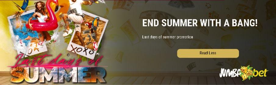 Jumba Bet Casino End of Summer Bonus