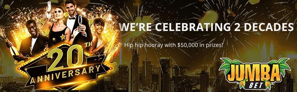 Jumba Bet Casino Anniversary Bonus