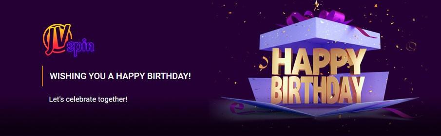 JVSpins Casino Birthday Bonus