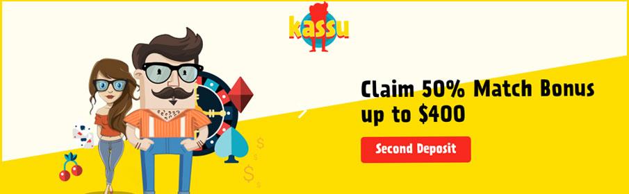 Kassu Casino Second Deposit Bonus