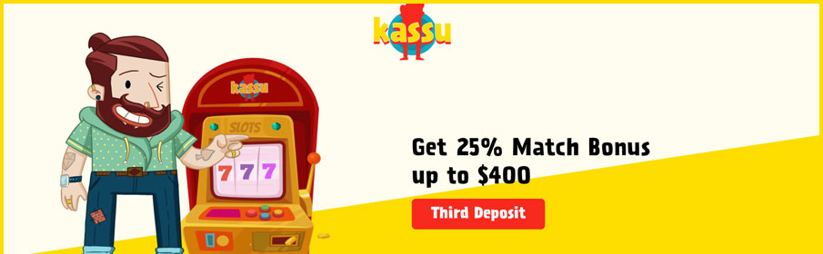 Kassu Casino Third Deposit Bonus