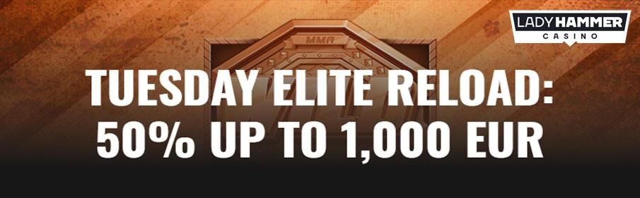 Lady Hammer Casino 50% Reload Bonus