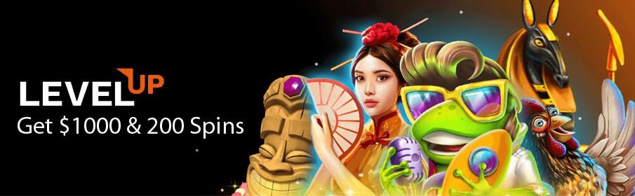 Levelup Casino New Player Bonus