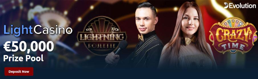 Light Casino €50,000 December Raffle Promotion