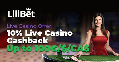 LiliBet Live Casino Bonus