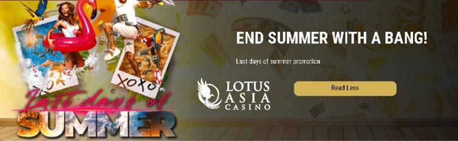 Lotus Asia Casino End of Summer Bonus