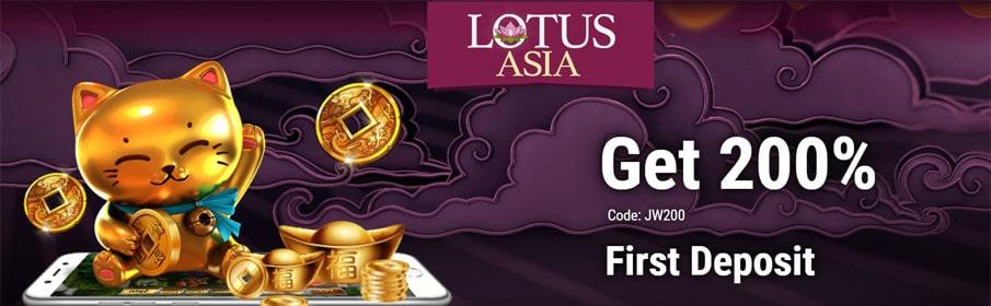 Lotus Asia Casino First Deposit Bonus