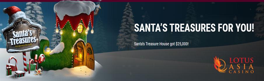 the Santa's Treasures at Lotus Asia Casino