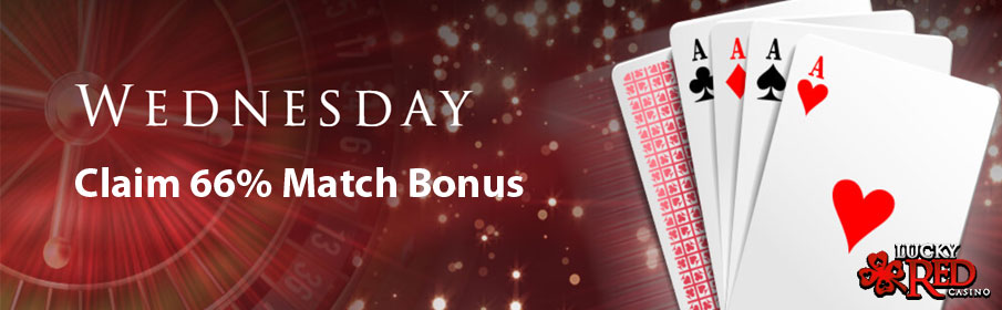 Lucky Red Casino 66% Wednesday Match Bonus