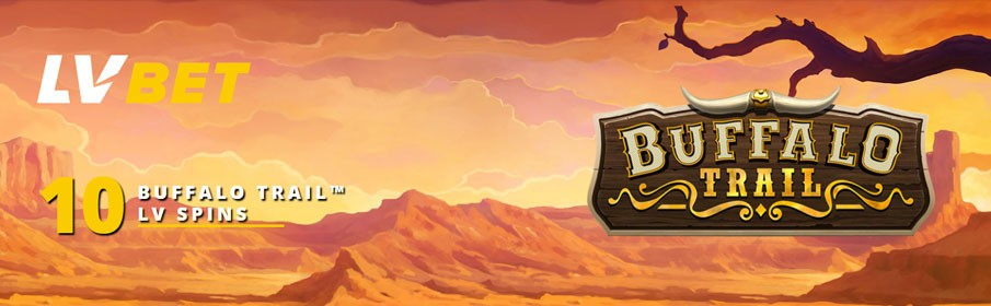 Get up to 10 Free Spins on 'Buffalo Trail'