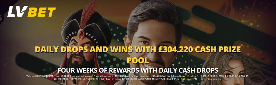 LVbet Casino Drops & Win Offer - €304,220 Prize Pool