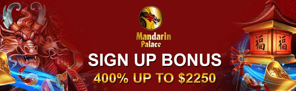 Mandarin Palace Casino Sign Up Bonus Redeem Promo Codes