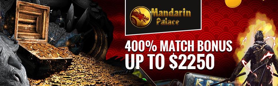 Mandarin Palce Casino Welcome Bonus