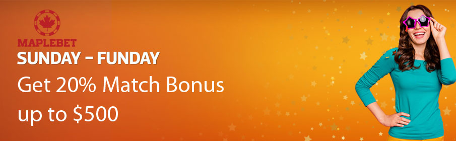 Maple Bet Casino Sunday Funday Promotion