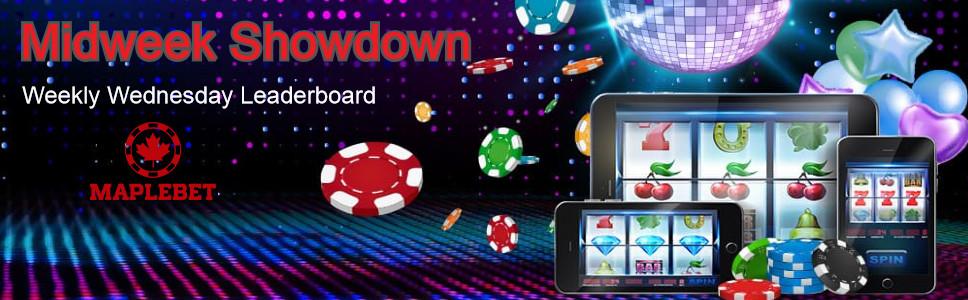 Maplebet Casino Midweek Showdown Bonus