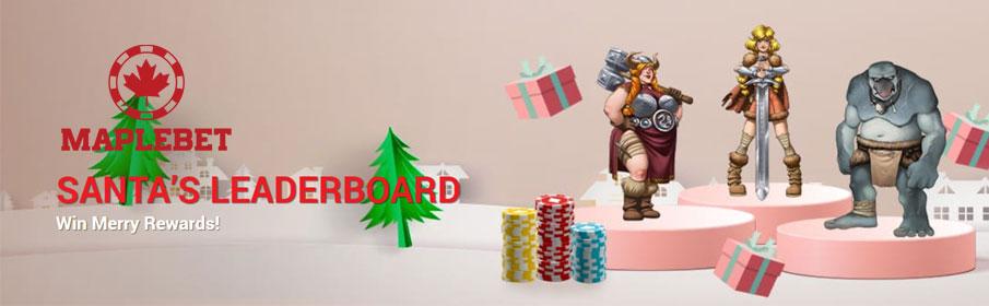 Santa's Leaderboard Tournament at Maple Bet Casino