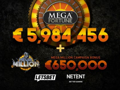 Mega Fortune By NetEnt delivers €6.63 Jackpot to a Swedish Player