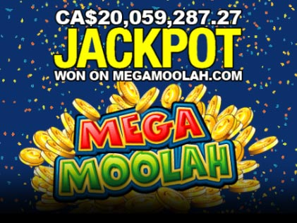 Zodiac Casino Player Hits CA$20 Million Jackpot on Mega Moolah Slot Game