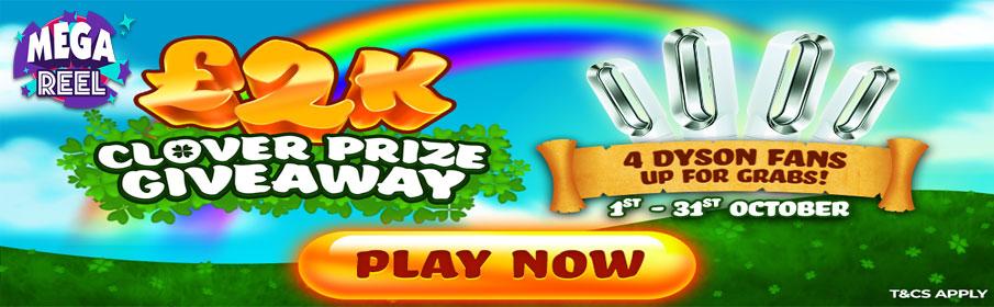 Mega Reel Casino Clover Prize Giveaway Bonus