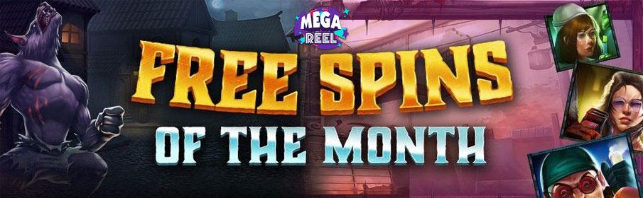 Mega Reel Casino Free Spins of the Month Bonus