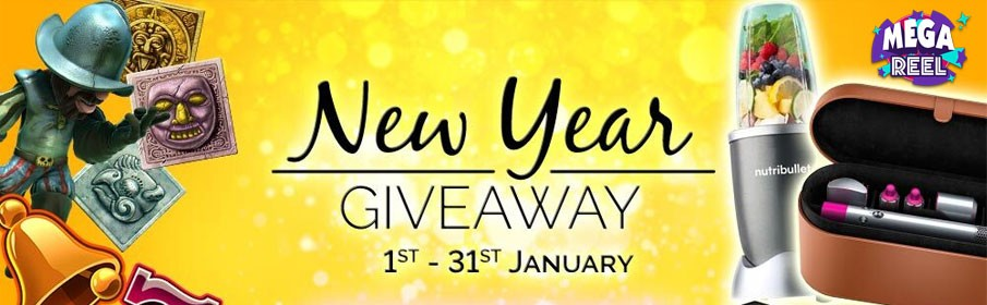 Mega Reel Casino New Year Giveaway Promotion