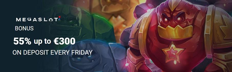 MegaSlot Casino Friday Reload Bonus