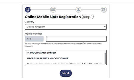 mFortune casino Registration