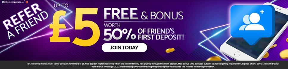 mFortune Casino Refer a Friend Offer