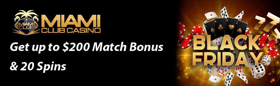 Miami Club Casino Black Friday Bonus – Get Free Spins
