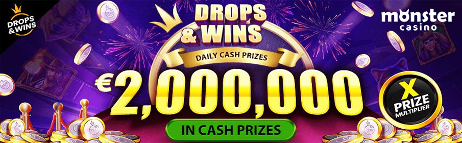 Daily Drops & Wins Promotion at Monster Casino