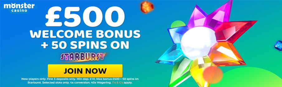 Monster Casino Welcome Bonus