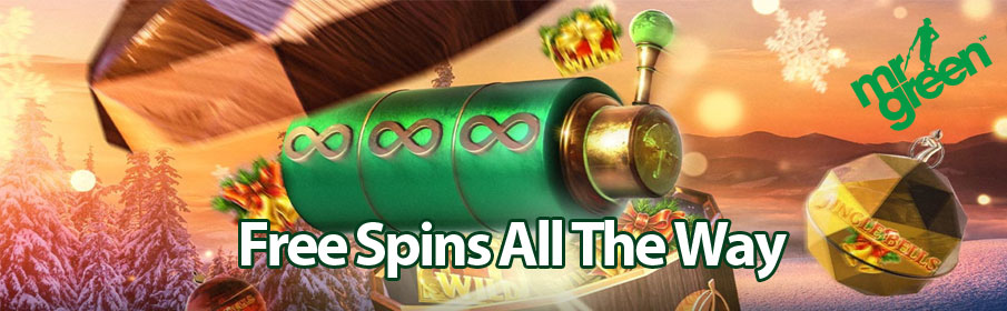 Mr Green Casino Free Spins All the Way Christmas Promotion