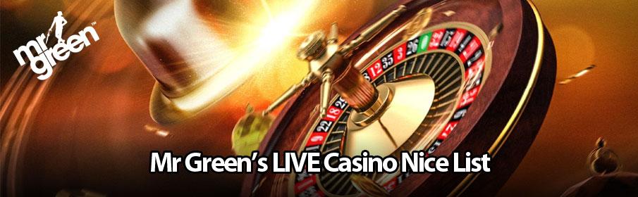 Mr Green Live Casino Nice List Promotion - €15000 Prize Pool