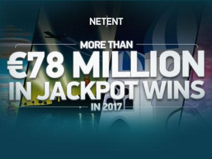 The Year 2017 has been full of Jackpot Wins at NetEnt - €78 Million