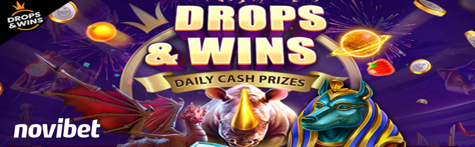 NoviBet Casino Daily Drops & Wins Promotion