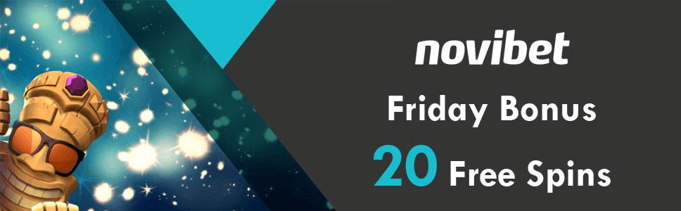 Novibet Casino Fresh slots Friday Bonus