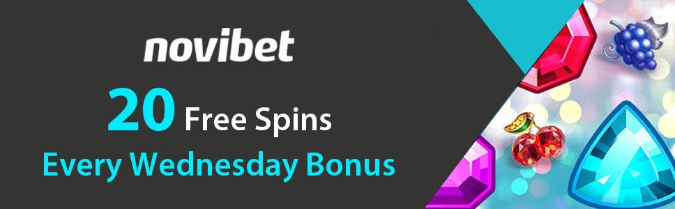 Novibet Casino 20 Free Spins Bonus Every Wednesday