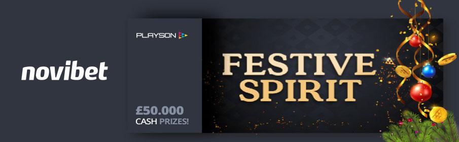 Novibet Casino Playson Festive Spirit Promotion - £50,000 Prize Pool