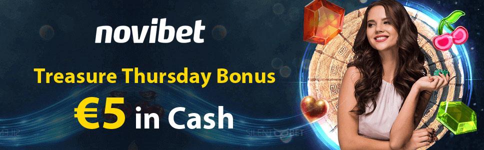 Novibet Casino Treasure Thursday Bonus