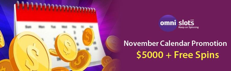 Omni Slots Casino November Calendar Promotion