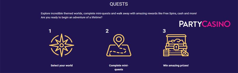 Party Casino Quest Promotion