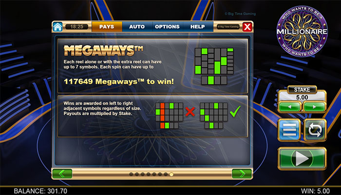 Who Wants To Be A Millionaire Megaways Video Slot