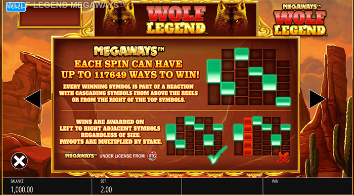 Wolf Legend Megaways Slot Pay Lines