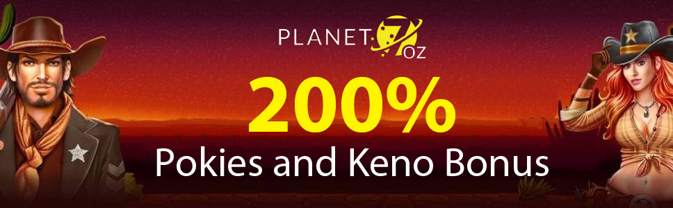 Planet 7 Oz Casino Pokies and Keno Bonus